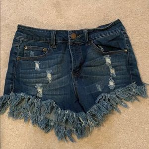 Elan brand cutoff denim shorts, size small